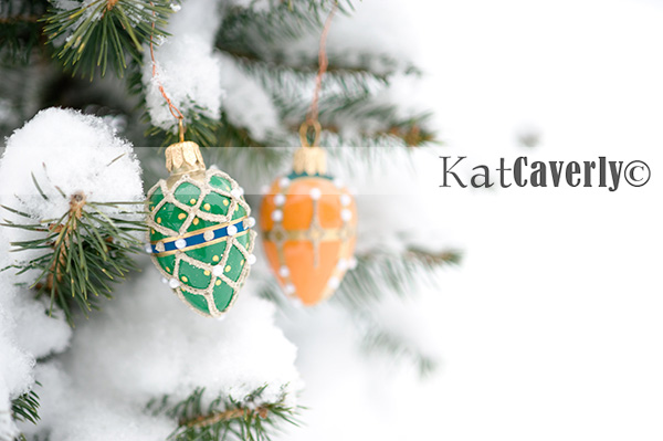 Ornaments in the Snow by Kat Caverly