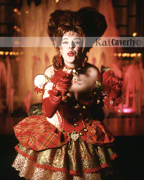 Kat Caverly as the Queen of Hearts, photographed on location at Lincoln Center, New York City February 13, 1998 by Thomas Hudson Reeve