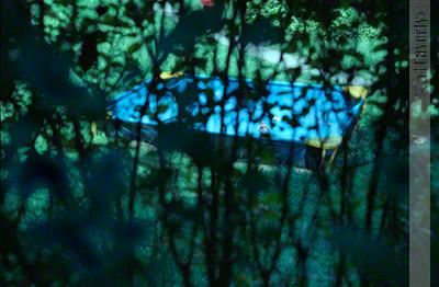 Backyard swimming pool, South Orange, NJ 1986, photo by Kat Caverly
